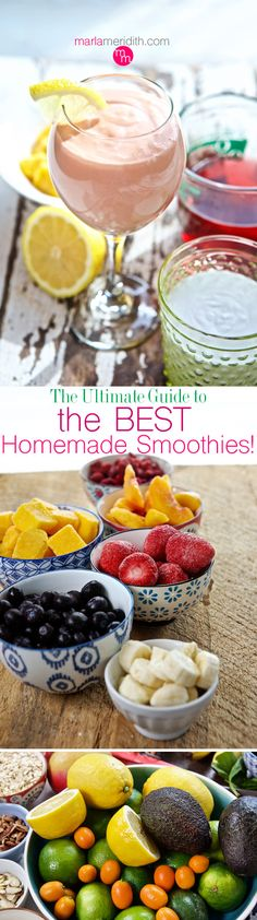 The Ultimate Guide to the BEST Smoothies | MarlaMeridith.com ( @MarlaMeridith )