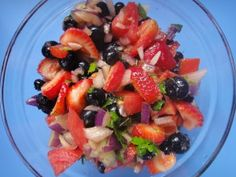 strawberry and blueberry salsa