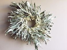 Beautiful wreath made from the dried branches of the Russian olive tree. Russian Olive Tree, Olive Wreath, Upcycled Home Decor, Repurposed Items, How To Preserve Flowers, How To Make Wreaths, Diy Wreath, Floral Arrangements, Christmas Wreaths