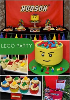 Is your guy a colorful sort who likes to build things? This boy's Lego themed 5th birthday celebration might be what he wants for his birthday.