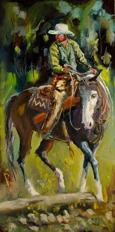 New Western Cowboy Art by CFAI artist Diane Whitehead $4200