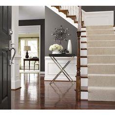 Grey walls + white wainscoating + timber floors = love.