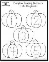 FREE Printable Pumpkin Number Tracing Worksheets 1-20