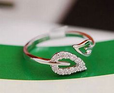 Like and share if you like this Leaves Crystal Rings Tag a friend who would love this #rings #ringsofinstagram #fashion #ring