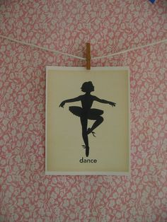 I could make a garland with illustrations of different Ballerina poses