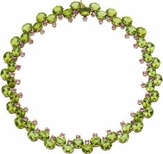 Peridot, Pink Sapphire, Gold Necklace, Paolo Costagli. ... Estate | Lot #59199 | Heritage Auctions