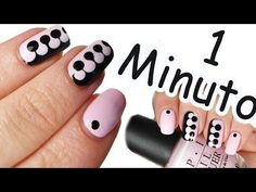 NAIL ART TUTORIAL PUZZLE IN 1 MINUTO! #6 - YouTube