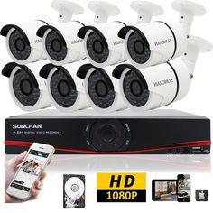8CH 1080P HDMI DVR AHD Indoor Outdoor CCTV Security Camera System
