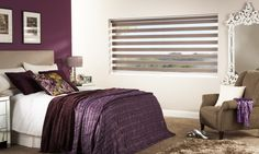 Vision® Blinds by Louvolite - Capri - Sand    The Vision Collection's horizontal stripes effortlessly move from transparent to dim out or blackout.