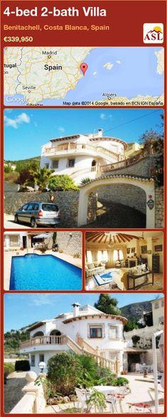 4-bed 2-bath Villa in Benitachell, Costa Blanca, Spain ►€339,950 #PropertyForSaleInSpain