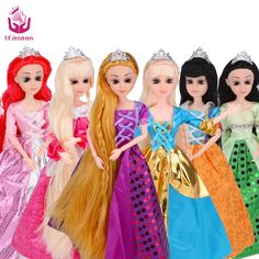 UCanaan Doll 10 Different Models to Chose Cinderella Rapunzel Mermaid Snow White Beauty Princess Best Friend Play with Children