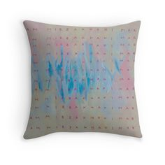 """Maryam Mirzakhani"" Throw Pillows by Oliver Sin"