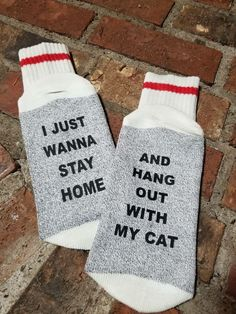Excited to share the latest addition to my #etsy shop: I just want to Stay home, and hang out with my cat, cute boot socks, cute boot socks ! #christmas #clothing #funnysocks #bootsocks #cabinsock #wintersock http://etsy.me/2mHPpOJ