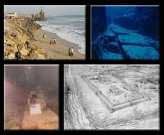 Ancient Underwater City of Dwarka submerged in only 70 feet of water, just off the coast of modern day Dwaraka. The evidence shows sandstone walls, cobblestone streets and a prosperous sea port. Artifacts have been estimated at 32,000 years.   http://www.travelshackblog.com/2011/07/lost-city-found-under-water-dwarka.html