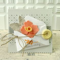 Danielle Flanders made an adorable project with the Tiny Envelope die along with bits and pieces from Sending You, Ribbon Tails & Background Basics: Twinkle.