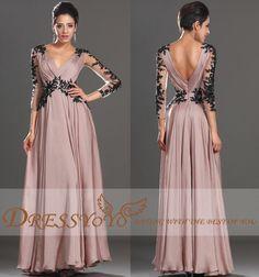 Sexy Deep V-Neck V-Open Back Long Lace Sleeves Lace Waist Chiffon Long Dress Wedding Dress Evening Dress Prom Dress Celebrity Dress on Etsy, $133.89 CAD
