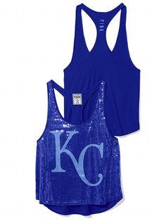 Kansas City Royals Bling Racerback Tank;   #VictoriasSecret http://www.victoriassecret.com/pink/kansas-city-royals/kansas-city-royals-bling-racerback-tank-pink?ProductID=106279=OLS=true?cm_mmc=pinterest-_-product-_-x-_-x