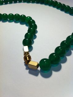 Chinese style Malaysia jade beads necklace