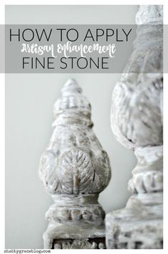 Want to add a unique texture and finish to your furniture or piece? This tutorial will teach you about Artisan Enhancement Fine Stone! I gave these thrift pieces new life with some Annie Sloan Chalk Paint and Fine Stone!