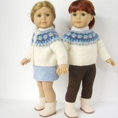 American Girl Doll Knitting Pattern Cardigan Bohus by LelleModa