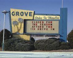 Grove Drive-in Movie Theater Sign Springdale Arkansas Color Photo Print Movie Theater Party, Drive In Movie Theater, Local Movies, Two Movies, Drive Through Cinema, Garden Grove California, Belleville Illinois, Springdale Arkansas, Vintage Neon Signs