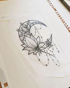 44 ideas for tattoo moon design lotus flowers - best tattoos . - 44 ideas for tattoo moon design lotus flowers – Best tattoos 44 ideas for t - Tattoo Mond, Lotusblume Tattoo, Shape Tattoo, Luna Tattoo, Tattoo Lyrics, Unalome Tattoo, Tattoo Paper, Mandala Tattoo Design, Flower Tattoo Designs