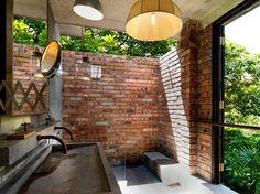Outdoor shower, Glass room @ Sekeping Tenggiri, kuala lumpur
