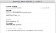 iTunes App Store customer feedback August 2013