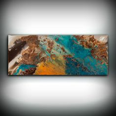 SALE Blue and Copper Art Wall Art Prints Fine Art by LDawningScott