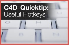 Comprehensive list of useful hotkeys for Cinema 4D that you just might not know.