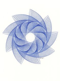 Nautilus Spiral Line Drawing Original ink by ParametricDrawing