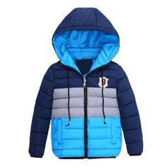 11015 - Manteaux garçons d'hiver chaud très bonne qualité plusieurs couleurs