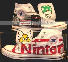 Mario Shoes Kids Mario Shoes Hand Painted Shoes,Low-top Painted Canvas Shoes