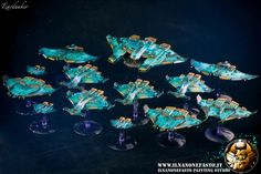 Wonderful Tau fleet. Miniature Painting Service, Battlefleet Gothic, Tau Empire, Sci Fi Spaceships, Different Races, Star Ship, Space Games, Bfg, Painting Workshop