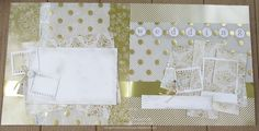 Gold and cream wedding spread, plus tips for organizing your scraps for maximum efficiency.