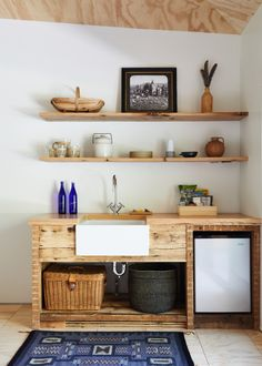 The Sanford Suite's sweet kitchenette. (See Trend Alert: 20 Well-Designed Kitchenettes. Remodelista, Decor, Home Kitchens, Interior, Small Kitchenette, Wellness Design, Mini Kitchen, Dining Nook, Home Decor