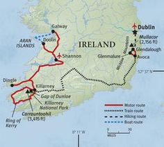 map and detailed plans to hike ireland!