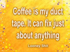 Coffee and duct tape Coffee Tin, I Love Coffee, Coffee Cafe, Coffee Break, Coffee Shop, Coffee Jokes, Dessert, Coffee Recipes, Duct Tape