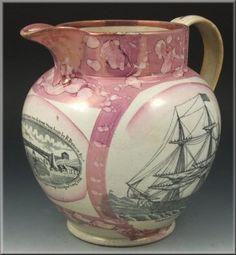Circa 1815 Sunderland Lustre Nautical Scene Pitcher - 795