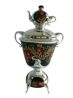 Oberfränkische Glas Design 5804 / 1 & with Berries Samovar Glass Ornament 18 CM Silver