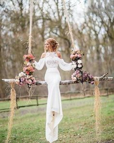 Wonderful Perfect Wedding Dress For The Bride Ideas. Ineffable Perfect Wedding Dress For The Bride Ideas. Wedding Gowns With Sleeves, Long Wedding Dresses, Boho Wedding Dress, Mermaid Wedding, Prom Dresses, Wedding Frocks, Bridesmaid Dresses, Formal Dresses, Viking Wedding Dress