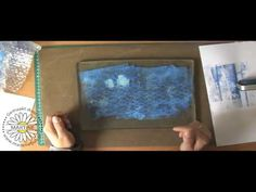 Martine will learn you in this video the Base technics with Gelli Plate.
