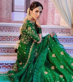 The Effective Pictures We Offer You About muslim Bridal Outfit A quality picture can tell you many things. You can find the most beautiful pictures that can be presented to you about Bridal Outfit gro Shadi Dresses, Pakistani Dresses Casual, Pakistani Wedding Outfits, Pakistani Dress Design, Bridal Outfits, Indian Dresses, Indian Outfits, Pakistani Mehndi Dress, Mehendi Outfits