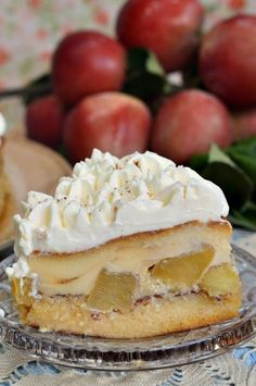 No Cook Desserts, Sweets Recipes, Baking Recipes, Cookie Recipes, Peach Yogurt Cake, Upside Down Apple Cake, Chicken Pasta Salad Recipes, Good Food, Yummy Food