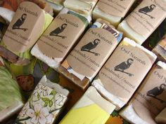 Soap Favors- wrapped in vintage childrens book pages-quantity of 5-baby shower favor, wedding favor, birthday party favor. $7.50, via Etsy.