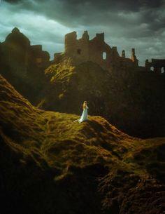 Dunluce Castle ruins, County Antrim.