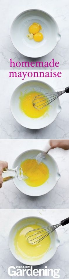 How to make Mayonnaise, step by step