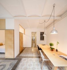 Renovation of 1930s Apartment Unveils Gorgeous Ceramic Tile, Vaulted Ceilings - Curbedclockmenumore-arrownoyes : We'd move in