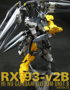 MG 1/100 RX-93-v2B Hi Nu Gundam Custom Unit B ver.2.0: Custom Build by patrick. Full Photoreview, Full English Info, Link