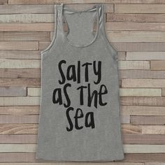 Salty as the Sea - Summer Tank Top - Funny Beach Tank - Surf Tank - Vacation Tank - Boho Tank - Bathing Suit Cover Up - Bikini Cover Up